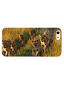 3d Full Wrap Case for iPhone 5/5s Animal Lionesses On The Path