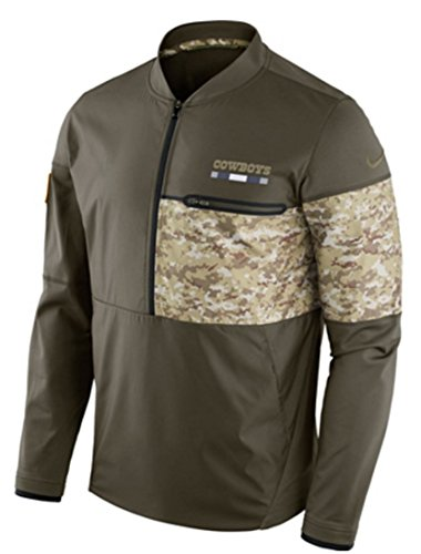 (Dallas Cowboys Nike Salute to Service Sideline Hybrid Half-Zip Pullover Jacket (Medium))