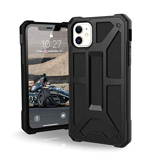 UAG Designed for iPhone 11 [6.1-inch Screen] Monarch Feather-Light Rugged [Black] Military Drop Tested iPhone Case