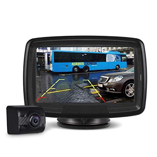 AUTO-VOX Digital Wireless Backup Camera Kit TD-2, Stable Signal Reverse Camera Kit with Super Night Vision, IP 68 Waterproof Rear View Camera 4.3'' LCD Monitor 12V-24V for Trucks, RV, Vans, Trailer