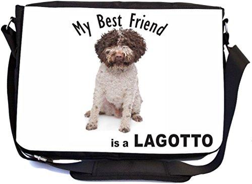 Rikki Knight My Best Friend ist ein Lagotto Dog Design, Messenger Schule Tasche (mbcp-cond44886)