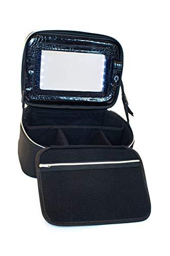 Makeup Bag with Mirror and Lights