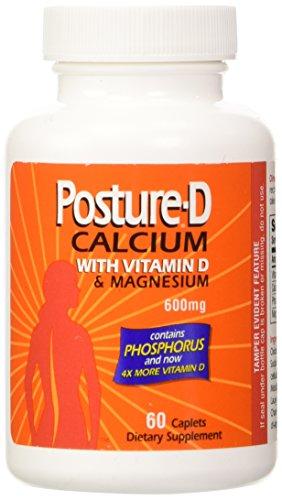 Posture-d Calcium Supplement with Vitamin D600mg-60ea