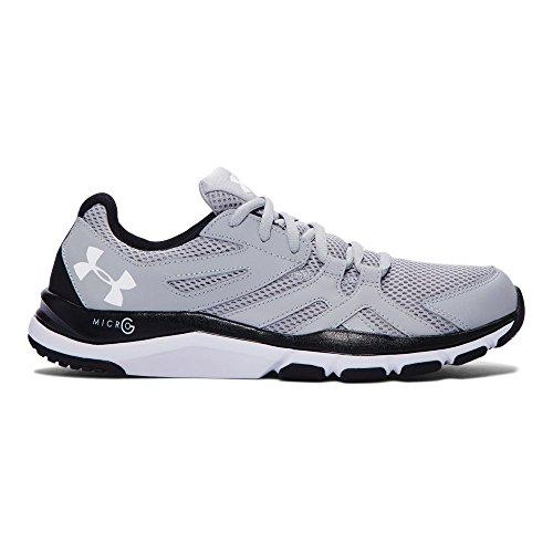 Under Armour Men's Strive 6 Training Shoes, Overcast Gray/Black, 11 D(M) US - Black Under Armour Shoes