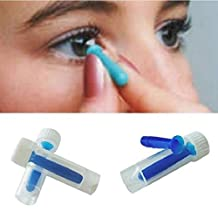 Liz Collection 3pcs 3cm Long Contact Lens Inserter and remover Suitable For Soft Hard Lenses Cosmetic Contact Lenses Portable Design Easy to Carry Blue