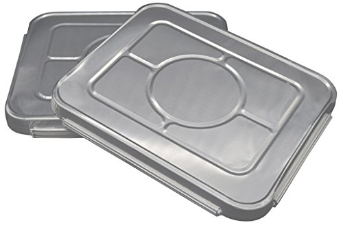 Lids for Aluminum Disposable Half Size Deep Chafing Pans l Size 9 inch x 13 inch l Top Choice Premium Durable Tin Foil Pan Lid Perfect for Roasting Potluck Catering Party BBQ Baking Cakes Pies (240 Pack)