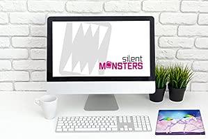 Silent Monsters Alfombrilla ratón Ordenador tamaño S (240 x 200 mm) Mouse Pad pequeña, diseño Unicornio, Adecuado para ratón de Oficina y para Gaming