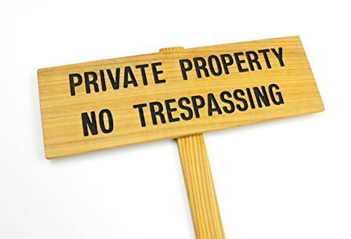 (PRIVATE PROPERTY No TRESPASSING, Cedar Wood Stake Sign, Routed Black Private Sign, Private Drive Sign, Driveway Marker, Trespassing Signage)