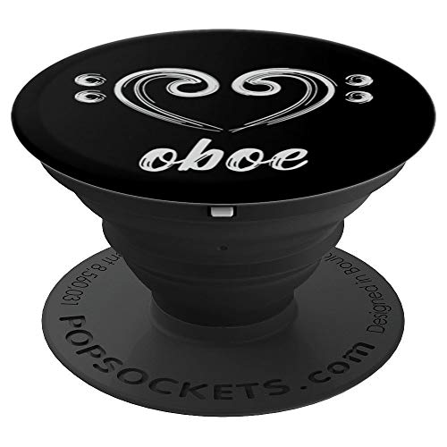 (I Love the Oboe Hand Drawn Love for Oboe Gift - PopSockets Grip and Stand for Phones and Tablets)