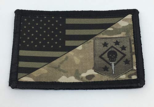 Subdued USMC Marine Raiders USA Flag Morale Patch Tactical Military. 2x3