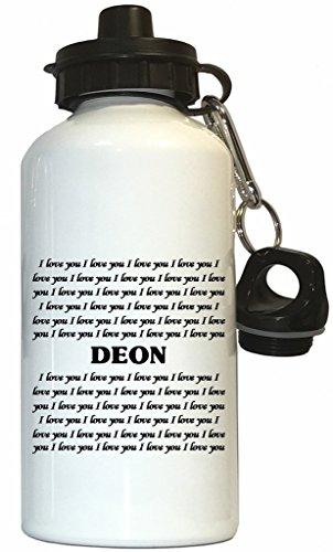 Custom Image Factory I Love You Deon Water Bottle White