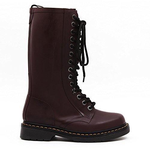 (Dr. Martens Women's Cherry Red Shower 14 Eye Boot 5 F(M) UK)
