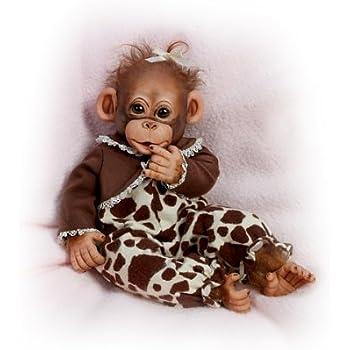 Amazon Com Ashton Drake Lifelike Baby Chimpanzee Doll