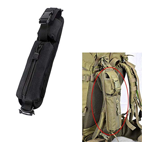 LIVIQILY Two Colors Tactical Molle Accessory Pouch Backpack Shoulder Strap Bag Hunting Tools Pouch (Black)
