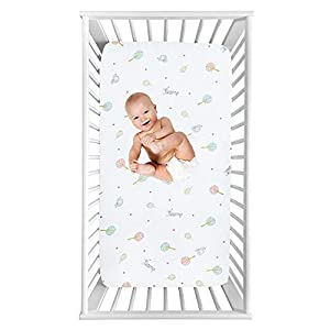 Baby Elephant Giraffe Fitted Crib Sheet for Boy and Girl Toddler Bed Mattresses fits Standard Crib Mattress 28×52