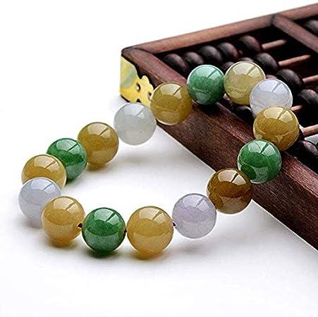 Brazalete De Jade De Color Natural para Hombres Y Mujeres De Jade Pulsera De Jade Granos Redondos De Jade Pulsera De Las Señoras De Piedra Originales