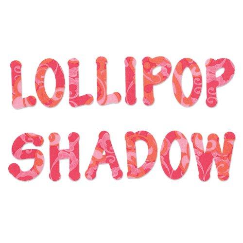 Sizzix Lollipop Shadow Uppercase Alphabet Bigz Dies Series - Sizzix Dies Alphabet