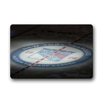 NHL New York Rangers Team Logo Custom Rectangle Entryways Non Slip Indoor/Outdoor Doormat Floor Mat(18 x 30)