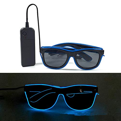 Glow Fever Light up El Wire Neon Rave Glasses Glow Flashing Sunglasses Costume For Party Favor, Halloween