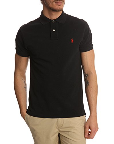 Ralph Lauren Herren Poloshirt Schwarz schwarz