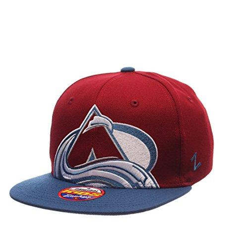 Colorado Avalanche Youth Peek Adjustable Snapback Cap - NHL Zephyr Kid's Flat Bill Baseball ()