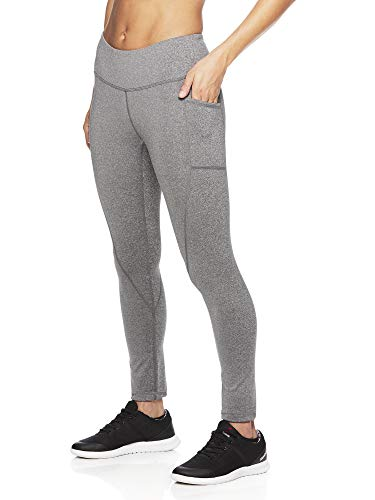 Reebok Women's Legging Full Length Performance Compression Pants - Grey Flint Heather, Medium