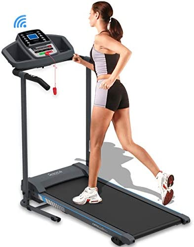 SereneLife Smart Electric Folding Treadmill Easy Assembly Fitness Motorized Running Jogging Exercise Machine