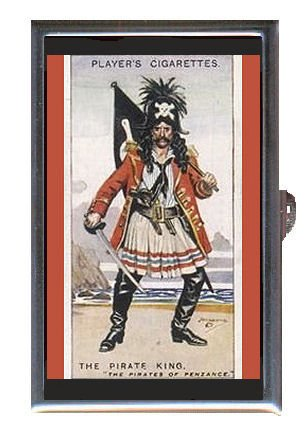 Old Cigarette Cards - PIRATE KING PENZANCE OLD CIGARETTE CARD Coin, Mint or Pill Box: Made in USA!