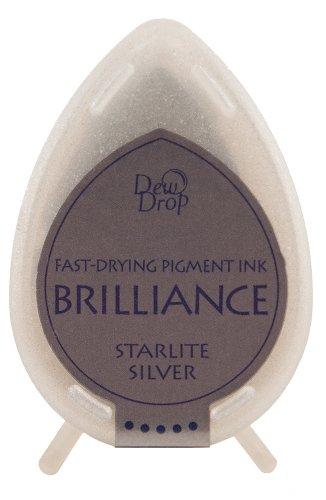 Tsukineko Brilliance Dew Drop Inkpad, Starlite Silver