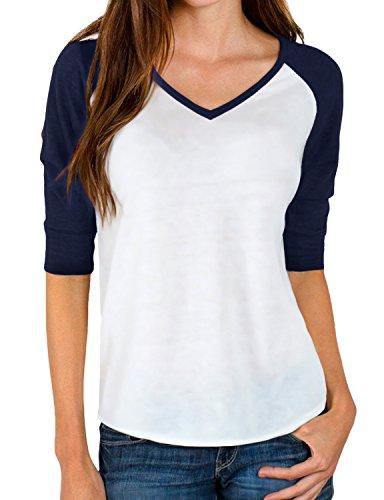 Regna X Love Coated 3 7 Sleeve Raglan Womens t-Shirts top Tunic