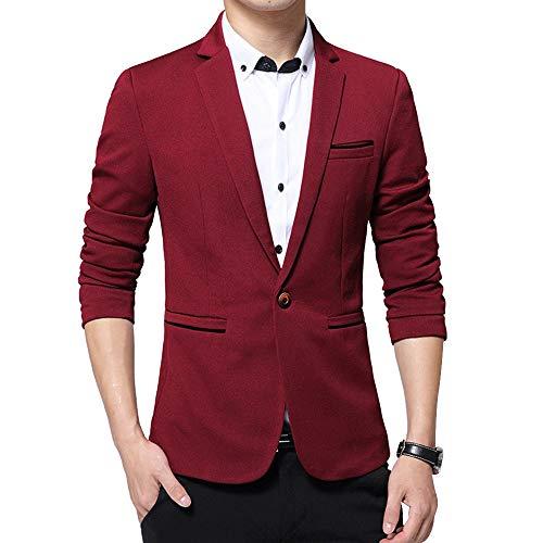 Blazer Blousons Simple Manteau Costumes Rouge Kindoyo Hiver Slim Longues Hommes Blazers Fit Affaires Manches waqpx1xUI