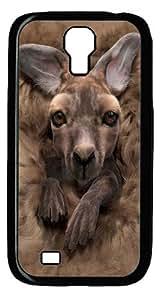 Baby Kangaroo Custom Samsung Galaxy I9500/Samsung Galaxy S4 Case Cover Polycarbonate Black