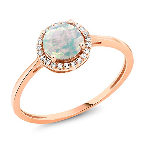 10K Rose Gold Diamond Engageme