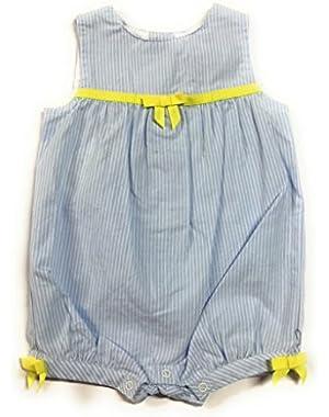 Baby Girl's Blue Stripe Romper 0-3 Months