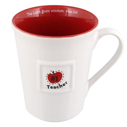 #1 Teacher Gift Mug w/Verse