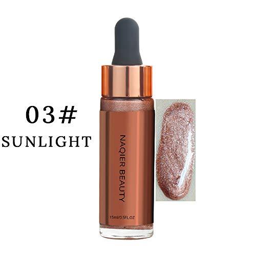 (Juner Women Face Body Glow Glitter High Light Liquid Shimmer Highlighter Concealer Makeup Cosmetics (C))