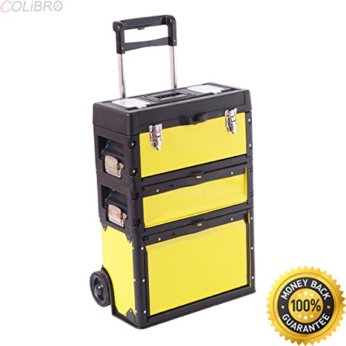 COLIBROX--Rolling Stacking Trolley Tool Box Chest Organizer Cabinet Metal Portable New. stalwart rolling toolbox. olling stacking tool box. home depot portable tool box.tool box on wheels with handle.