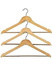 Wood Clothes Hangers, Coat Hanger Wooden Hangers (3-Pack)