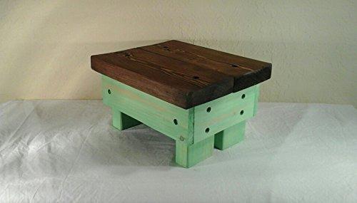 Amazing Amazon Com Wooden Step Stool Two Tone Stain Antique Jade Ibusinesslaw Wood Chair Design Ideas Ibusinesslaworg