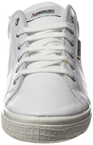 Kawasaki Badmin Leather, Zapatillas Unisex Adulto Blanco (White / Navy Hee)