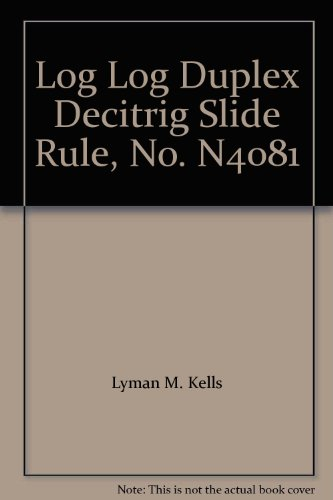 K + E MANUAL LOG LOG DUPLEX DECITRIG SLIDE RULE NO. N4081 ()