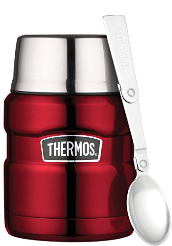 Thermos 4001.248.047 Speisegefäß Stainless King, 0,47 L, Edelstahl, cranberry