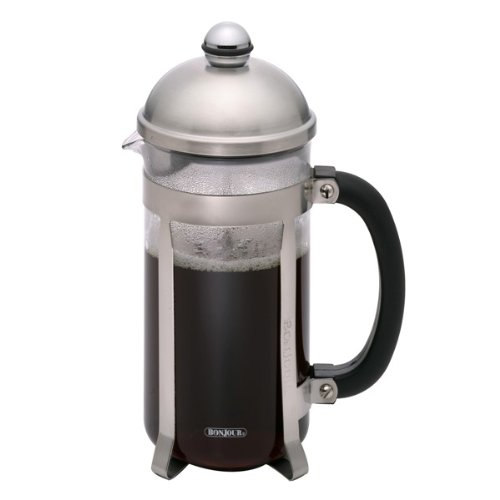 BonJour French Press Maximus with Flavor Lock Brewing, 8-Cup, Polished Stainless