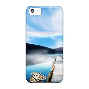 New Style Case Cover GxZ5588ymdo Mist On The Lake Compatible With Iphone 5c Protection Case