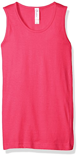 Clementine Apparel Little Girls' Everyday Wide Strap Tank Top, Hot Pink, L