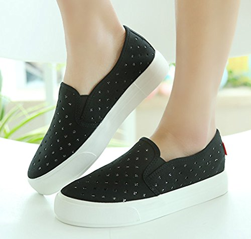 Sfnld Donna Sneakers Slip On Sneakers In Canvas Nere