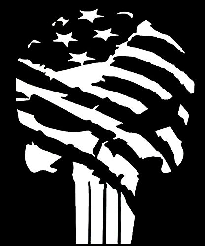 American Flag Punisher Vinyl Decal Sticker|Car Truck Van Wall Laptop|WHITE|5.5  sc 1 st  Amazon.com : vans wall decal - www.pureclipart.com