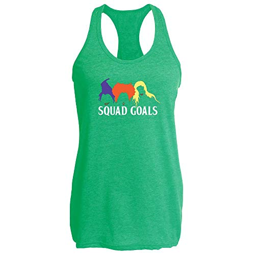 Pop Threads Squad Goals Witches Halloween Costume Heather Kelly L Womens Tank Top ()