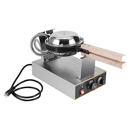 Egg Bubble Waffle Maker, Professional Electric Non-stick Egg Cake Oven Puff Bread Maker Commercial Waffle Bake Machine