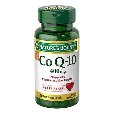 Nature's Bounty Cardio Q10, Co Q-10 400 mg Softgels 39 ea (Pack of 2)